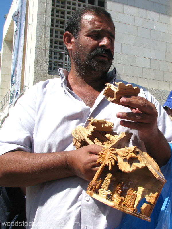 Olive Wood Carvings Seller Bethlehem