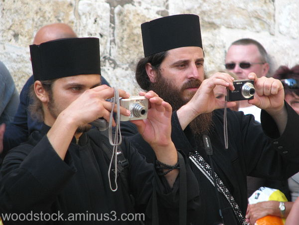 Bethlehem - Priests Taking Pictures