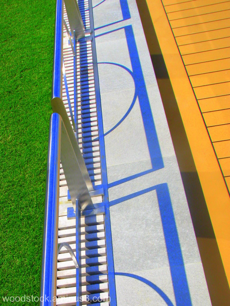 Handrail and grass