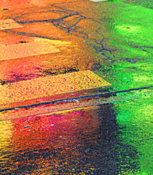 Street Paved With Gold, Yellow, Green,  Red.......