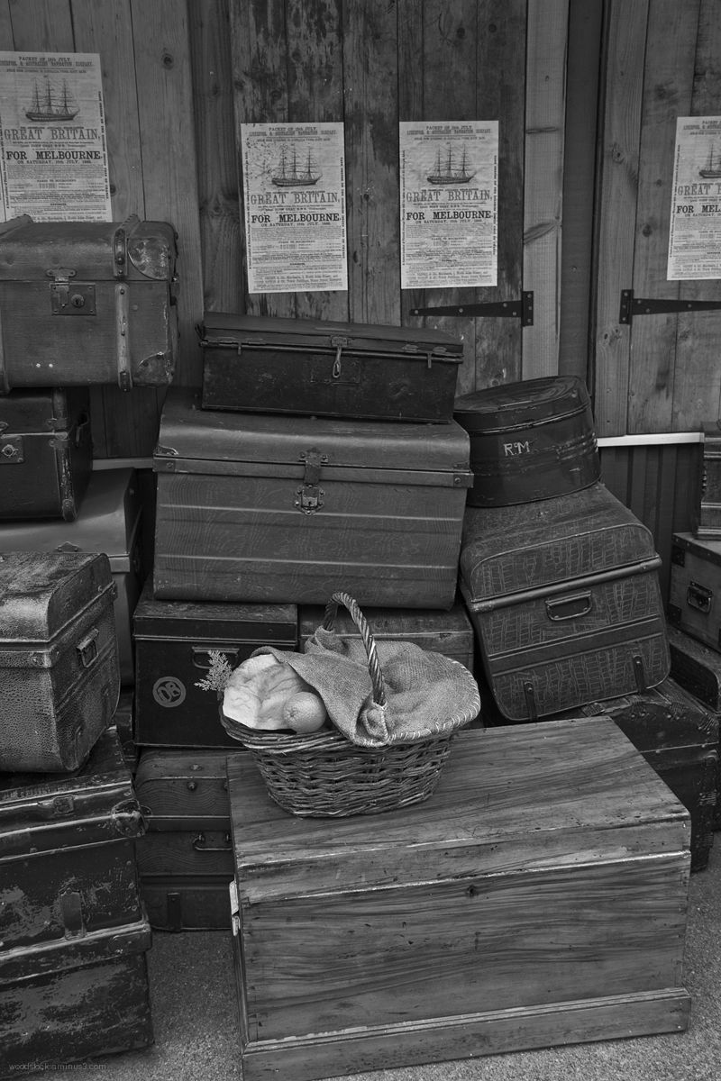 Passengers Luggage on the Quayside.