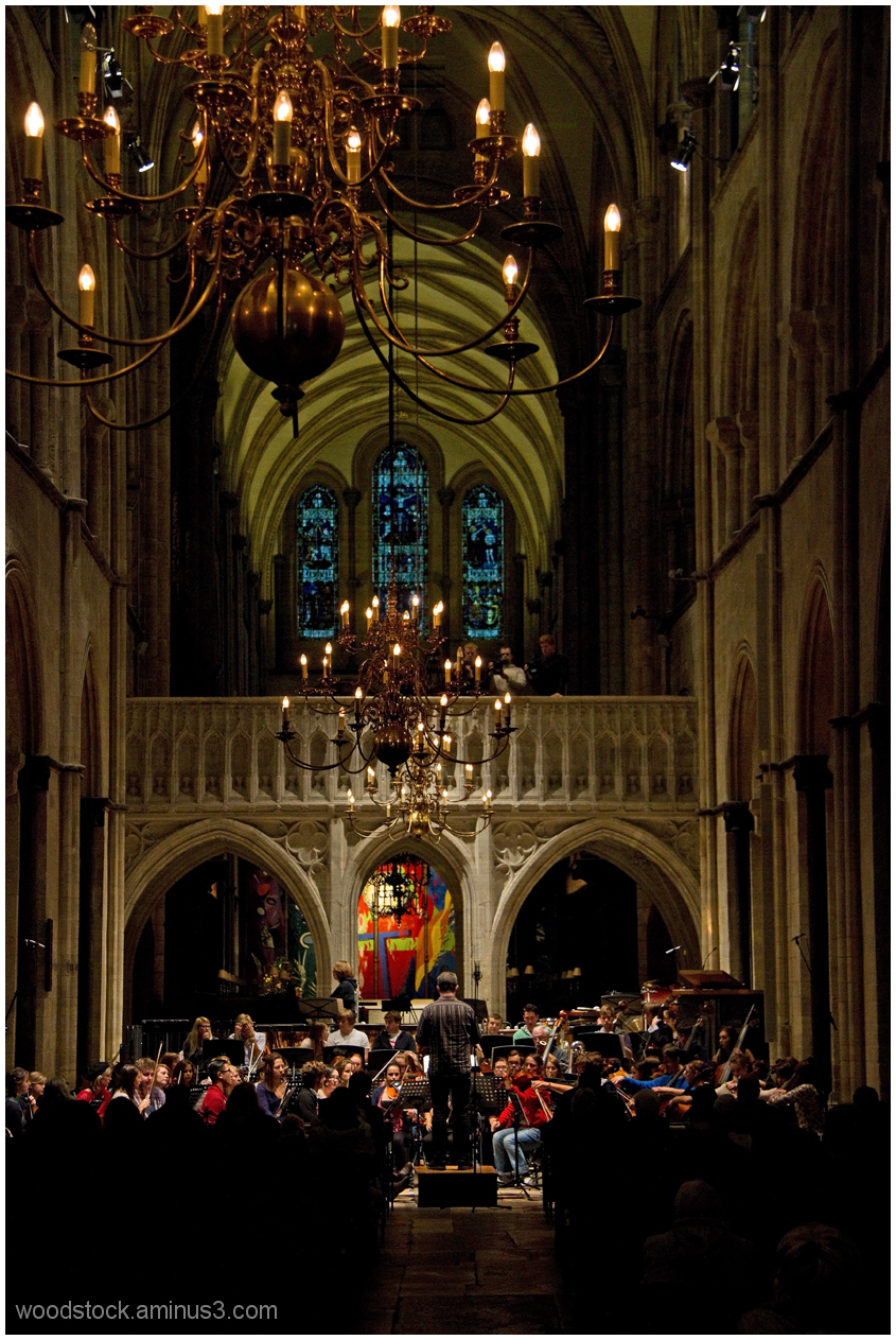 Orchestral Rehearsal Chichester Cathedral