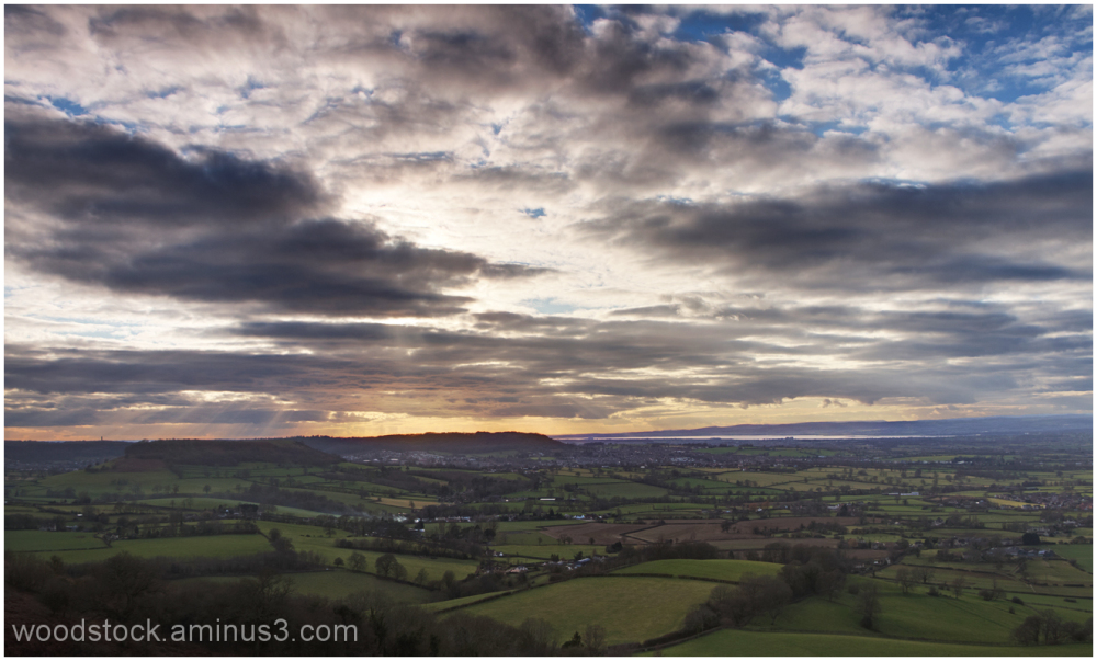 View From Frocester Hill Over the Severn Vale