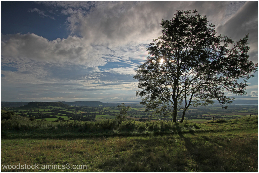 Cam Peak from Frocester Hill, Gloucestershire
