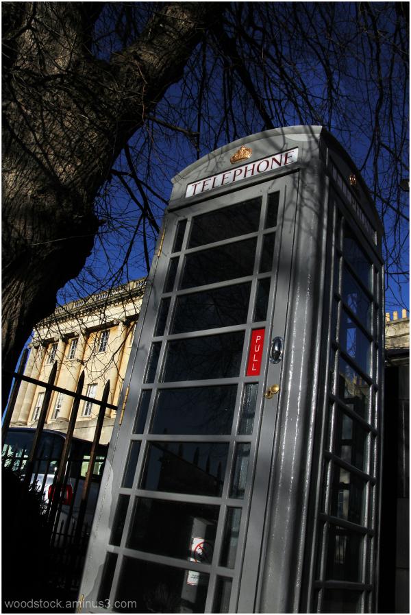 Grey Telephone Kiosk
