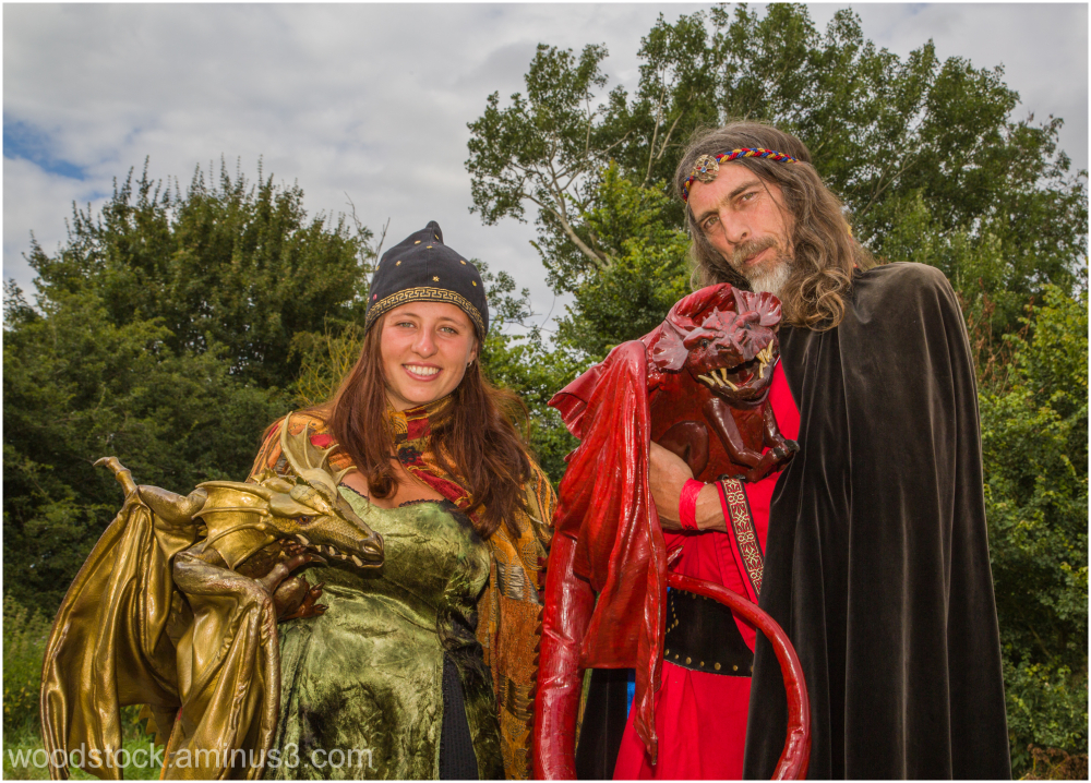 Mr & Mrs Merlin - with Dragons