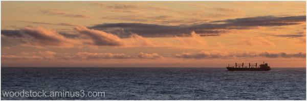 Sunset Off New Zealand Coast