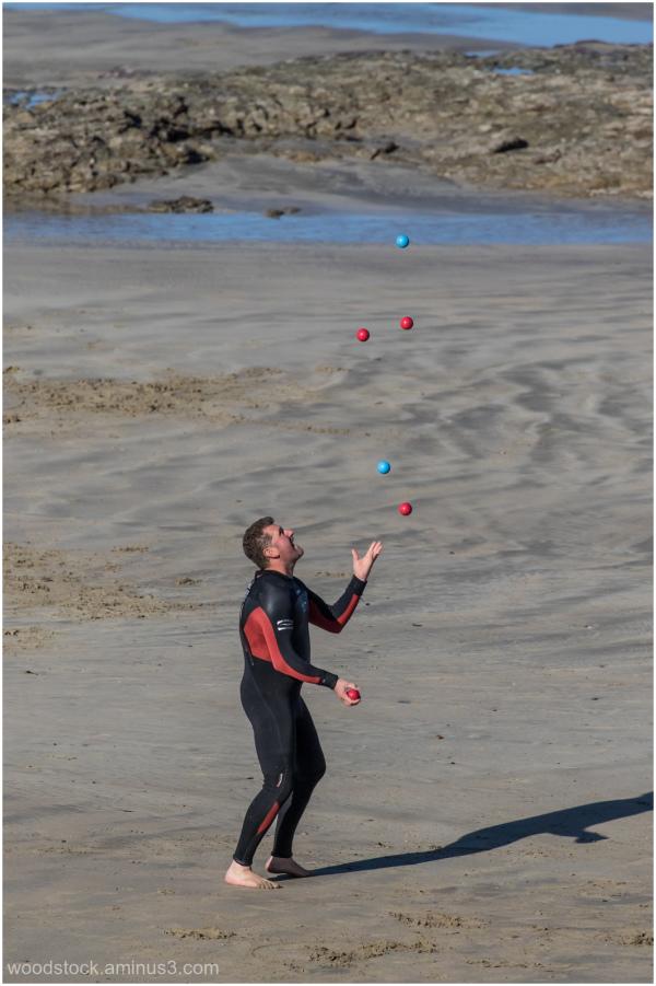 Wet Suit Juggler