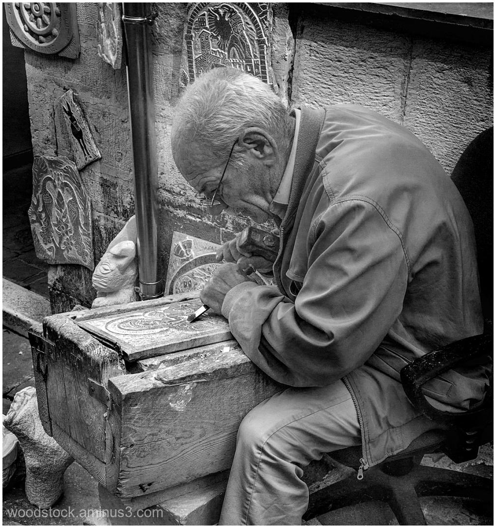 Sculptor in Gjirokastra, Albania