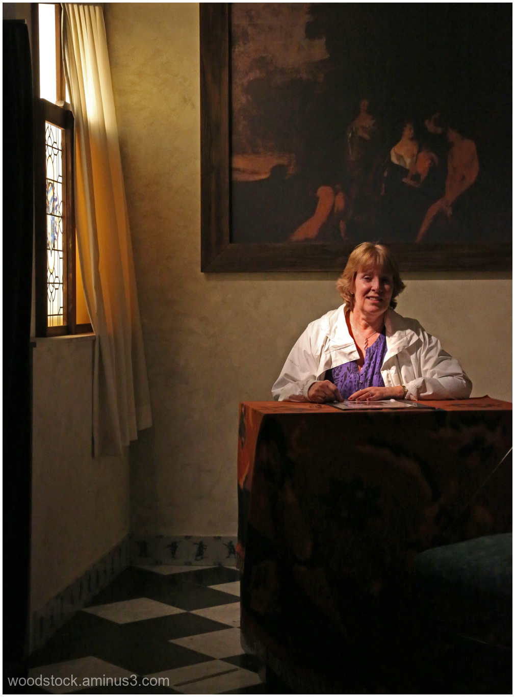 Mrs B  Inspired By Vermeer