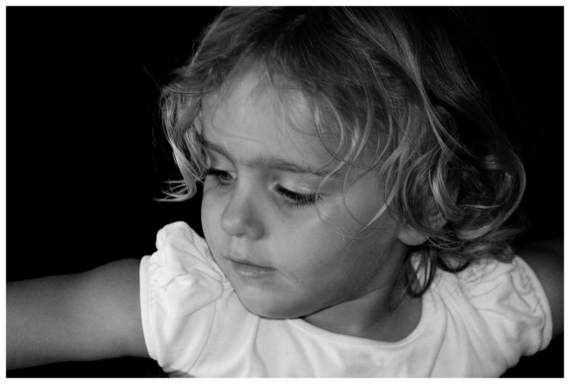 the girl  . . . contemplating?