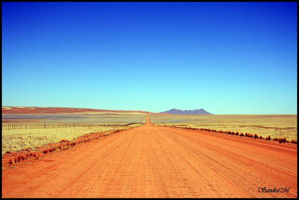 road, desert, namibia, nowhere