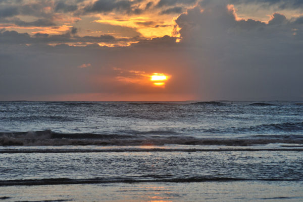 evening sky clouds beach