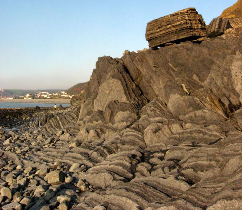 tan y bwlch beach aberystwyth rocks