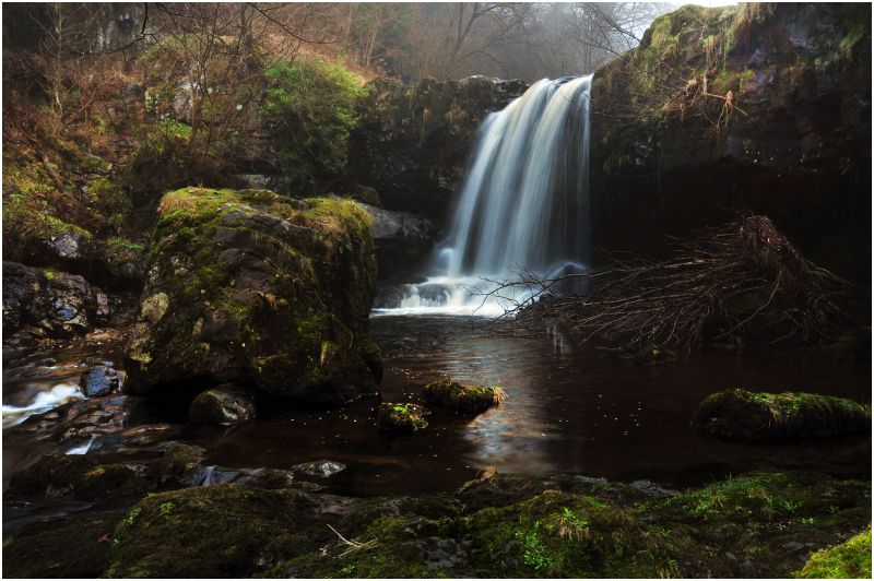 Campsie Glen Waterfall