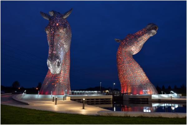 The Kelpies,taken with a Nikon D7100 18-105 lens