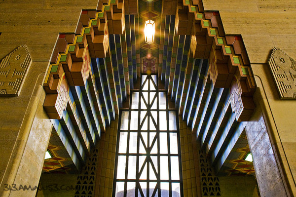 """The  Guardian Building's """"notched arch"""" window"""