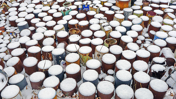 Paint Drum Graveyard