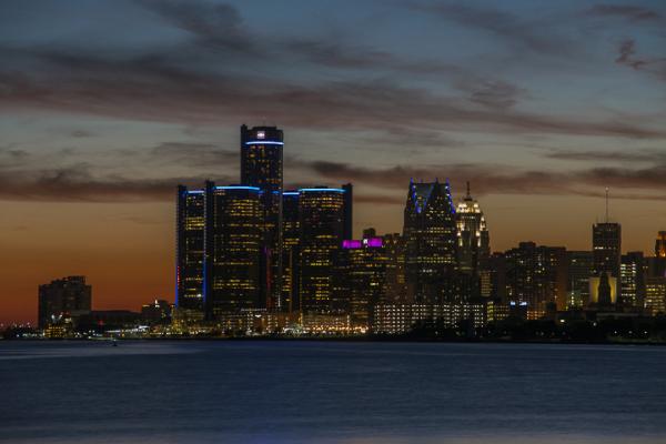 Straits of Detroit; 8:35pm