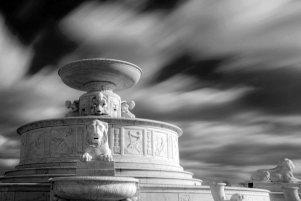 Scott Fountain with Clouds