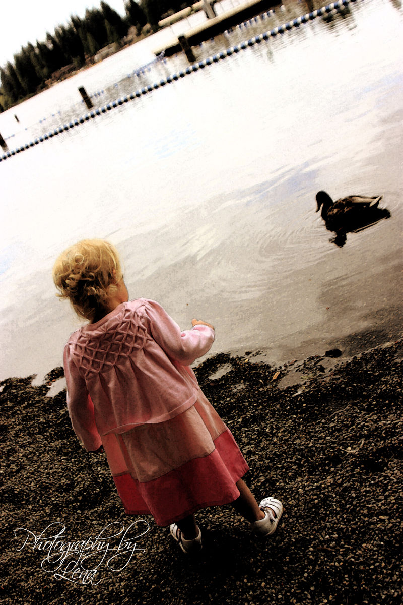 Carly and the duck