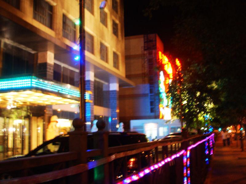 Neon light in the night