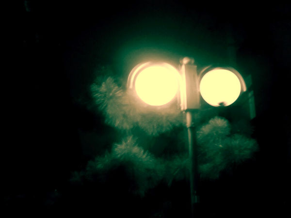 Lonely street lamp