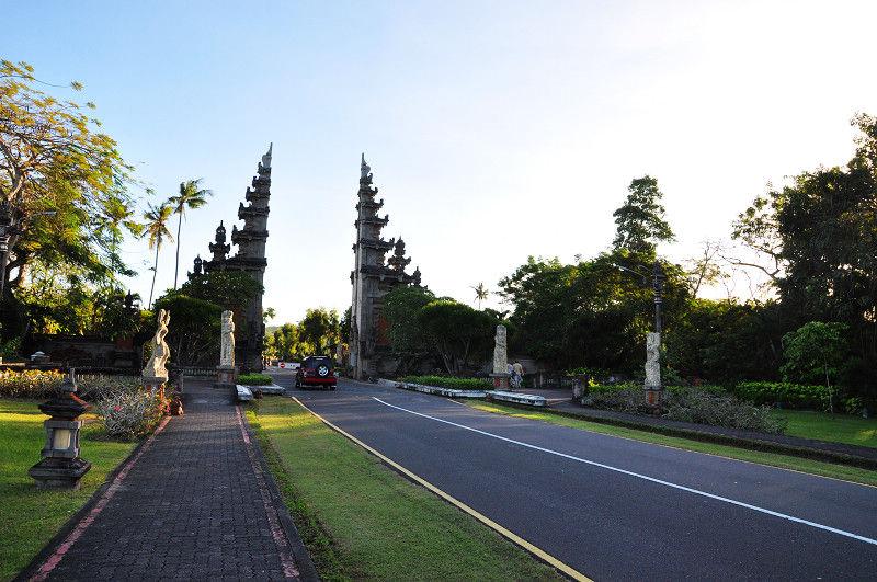 A road to Nusa Dua, in Bali, Indonesia