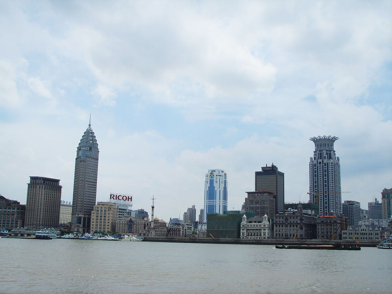 Huangpu River in Shanghai, China