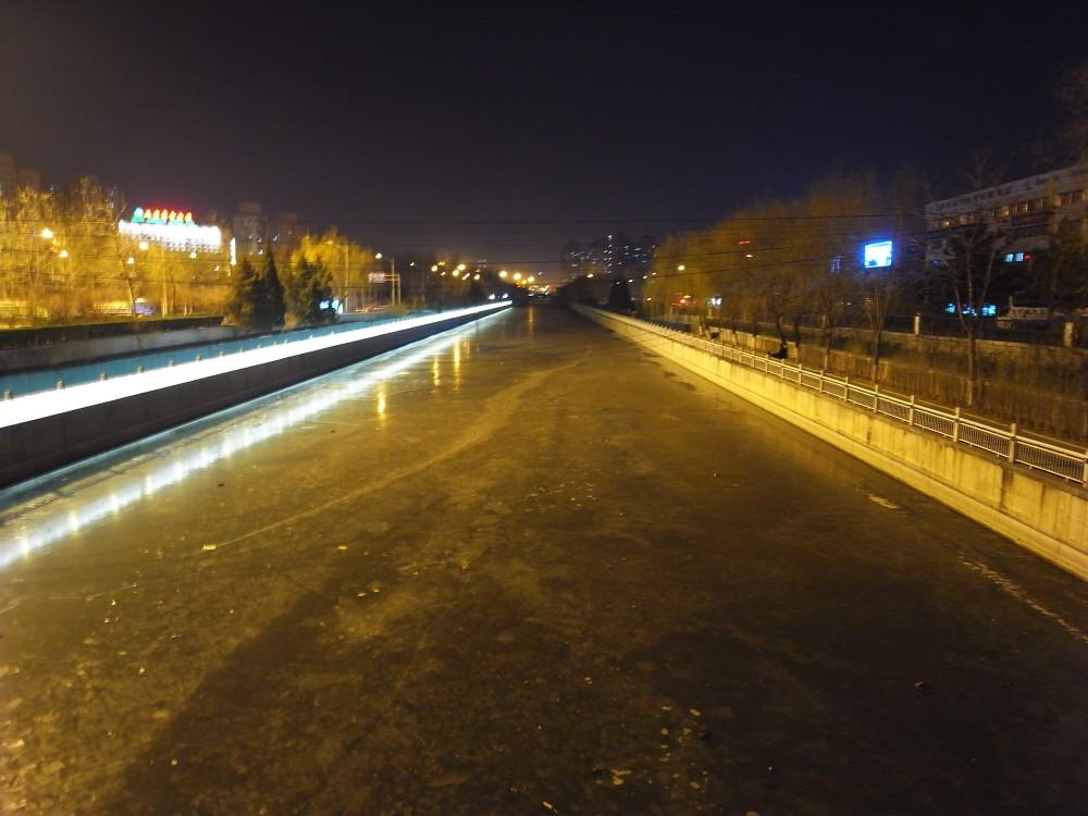Frozen moat in Beijing