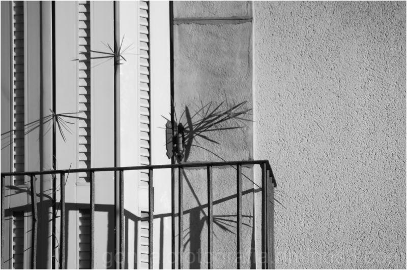 Asymmetric setting of enigmatic balcony.