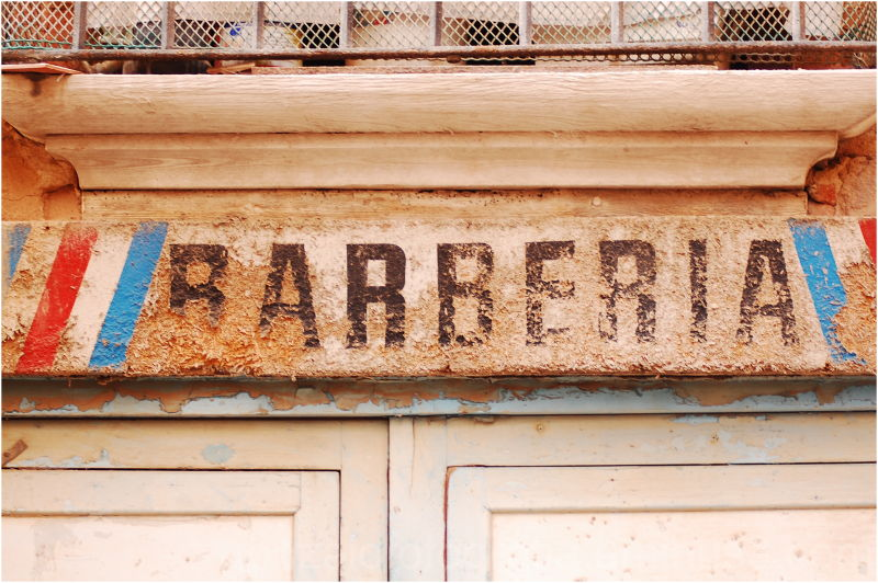 Tarragona: Barber's shop.
