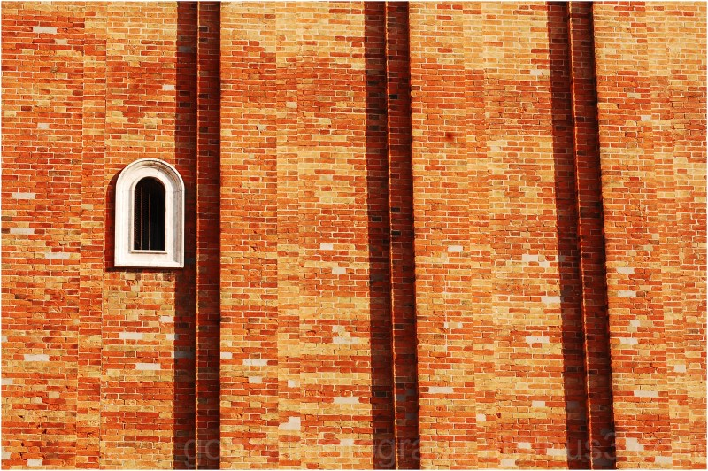 Window between bricks.