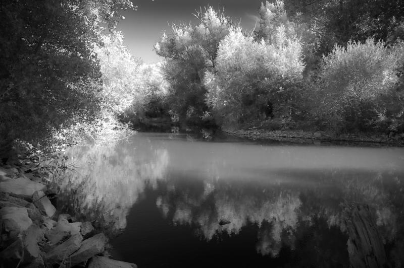 infrared photo provo river