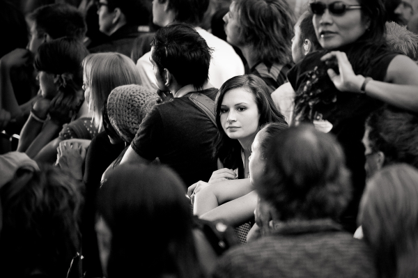 girl at a sonic youth concert in slc.
