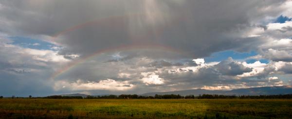 double rainbow in jackson wyoming