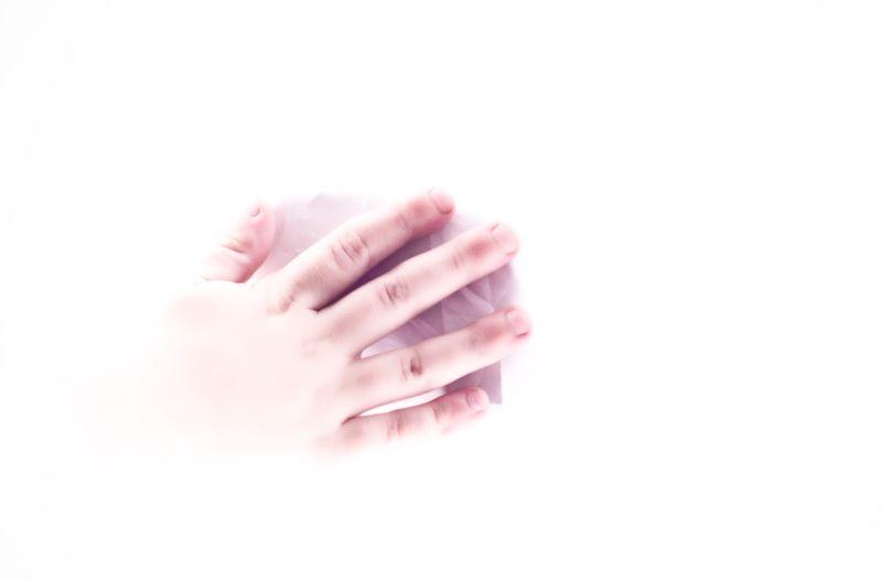 hi-key child's hand.