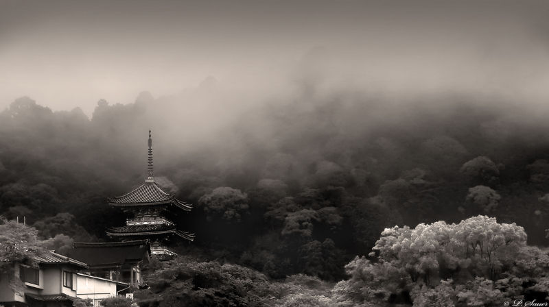 Higashiyama, Kyoto  in the mist