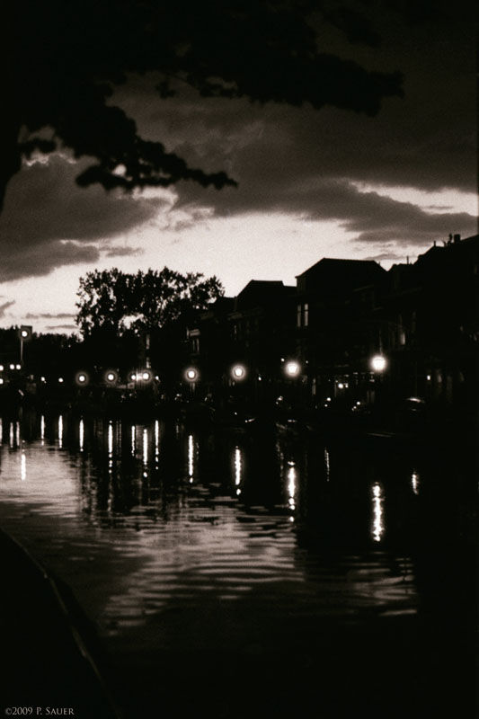 Leiden at dusk