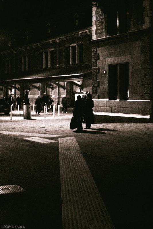 Amsterdam Central Station At Midnight