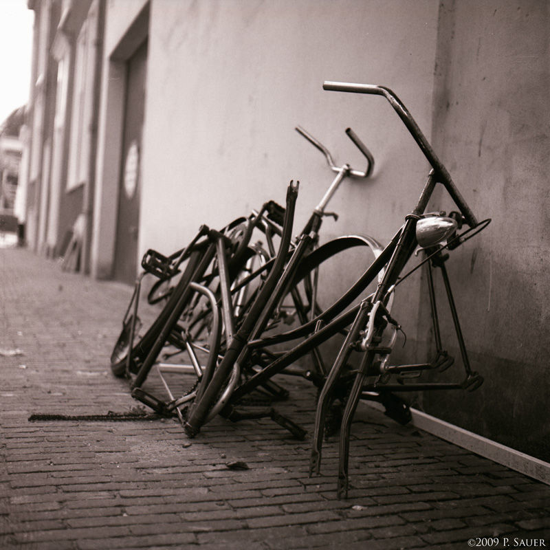 Broken bicycles