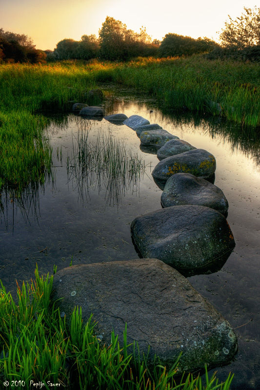 Stones in a pond