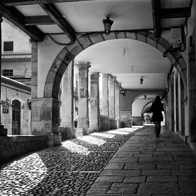 street scene aviles, asturias , spain