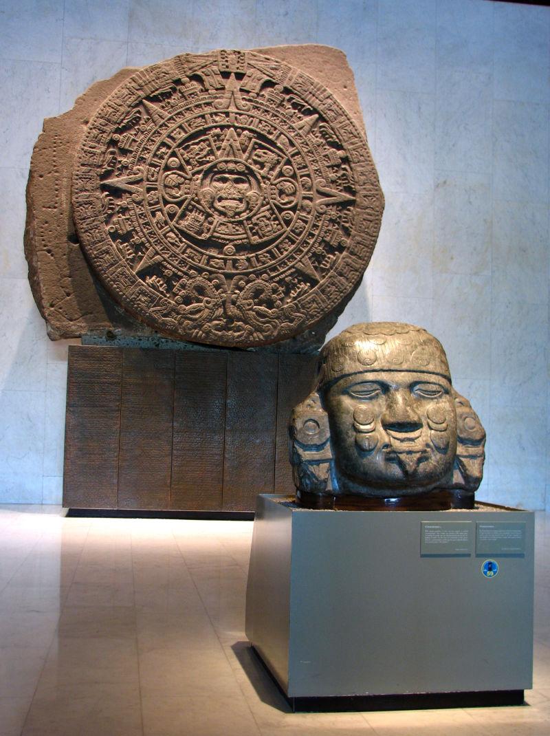 Piedra del sol y Cabeza de Coyolxauhqui
