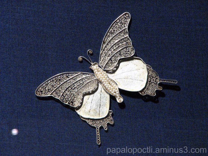 Mariposa de plata