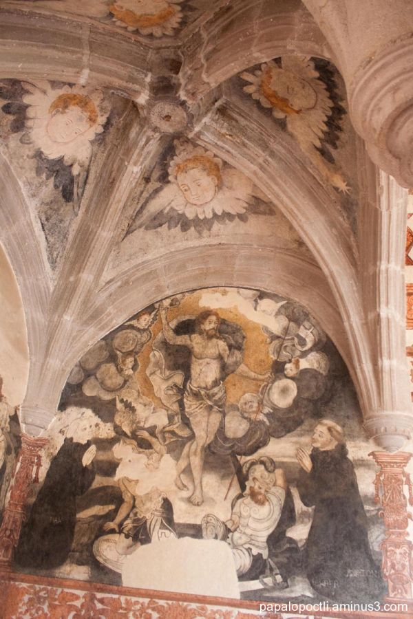 Murales del segundo piso, ExConvento, Malinalco
