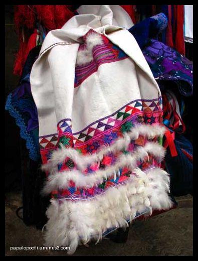 Vestido de novia bordado, chiapaneco