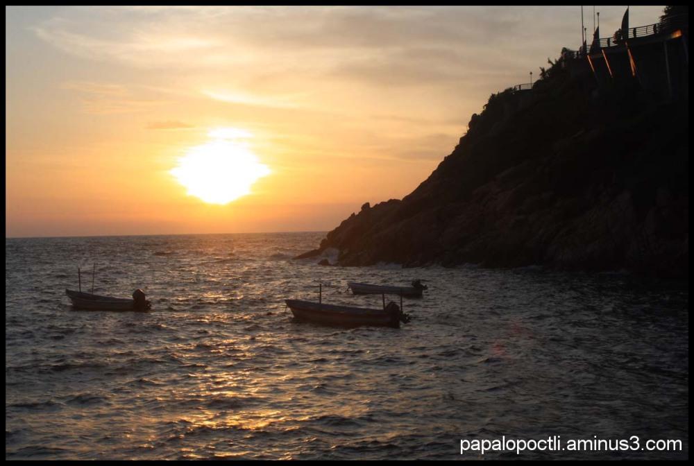 Atardecer en Acapulco, Guerrero, México.