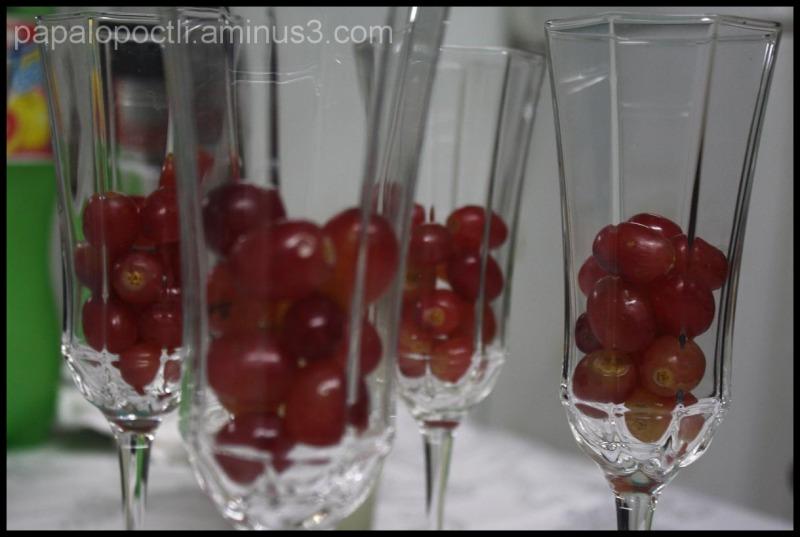 Uvas en copas