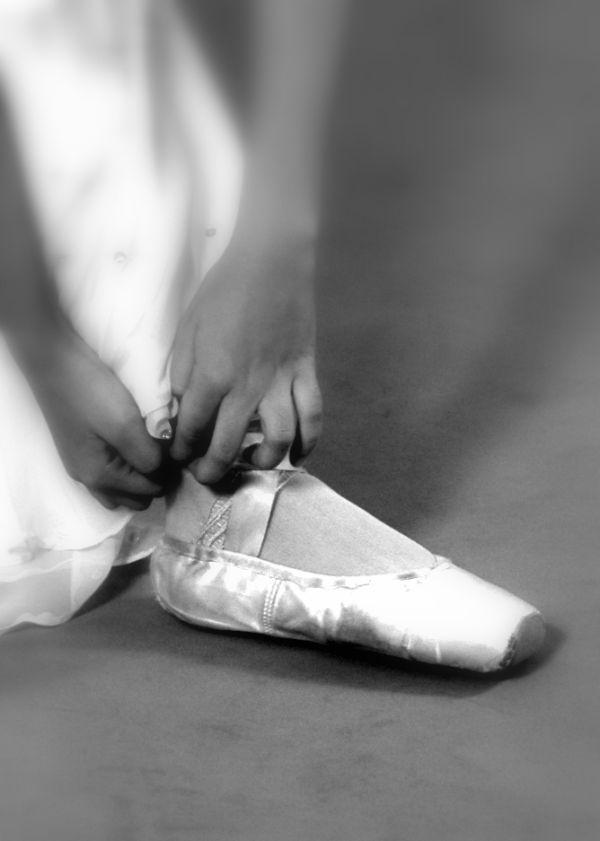 ballet dancer's shoes